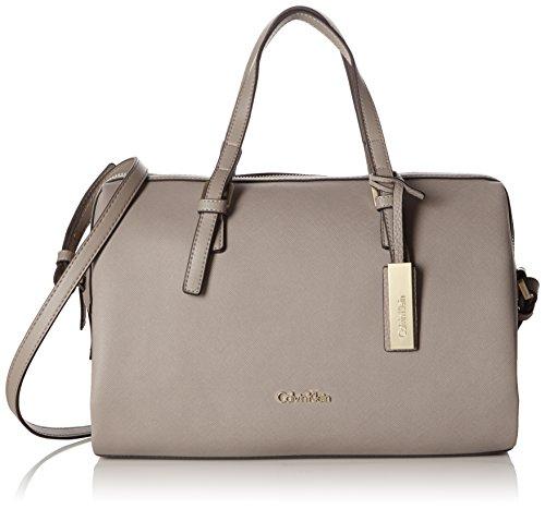 Calvin Klein JeansM4RISSA DUFFLE - Borsa con Maniglia Donna , Grigio (Grau (FUNGI 094)), 26x33x17 cm (B x H x T)