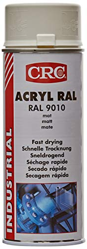 RC2 Corporation CRC 31066-AA - ACRYLIC PAINT. Pintura acrílica alto brico. Secado rápido. RAL 9010 blanco mate 455 ml