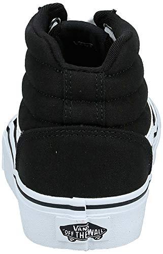 Vans Ward Hi, Sneaker Donna, Nero ((Canvas) Black/White 187), 38 EU