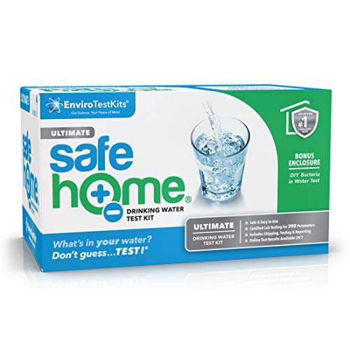 Safe Home ULTIMATE Water Quality Test Kit – Testing for 200 Different Parameters at our EPA Certified Laboratory – Comprehensive Analysis of City Water or Well Water