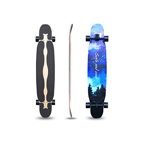 Best Review Of LIUFS-Skateboards Longboard Collection 47 Inch Longboard Skateboards Bamboo with Hard...
