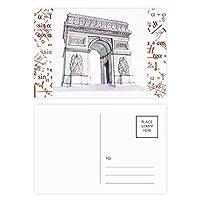 アークデtriomphパリフランス 公式ポストカードセットサンクスカード郵送側20個