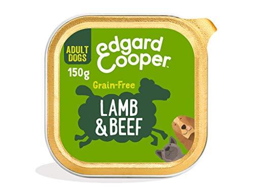 Edgard & Cooper Comida humeda Perros Adultos sin Cereales, Natural con Cordero y Ternera. Alimentación balanceada y Sana con proteinas y aminoácidos. Carne 100{e84a2bc1df2547bcde78f3e6da37b79dad7feae4f980c80214519657dab943a9} Fresca en paté. Pack de 11x150gr