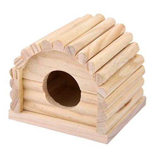 Baoblaze Holz-Häuschen für Hamster, Mäuse oder andere Kleintiere