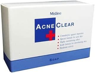 X 2 Mistine Comedolytic Acne Clear Soap Face & Body Anti-acne & Moisturizing Bar 90 G.