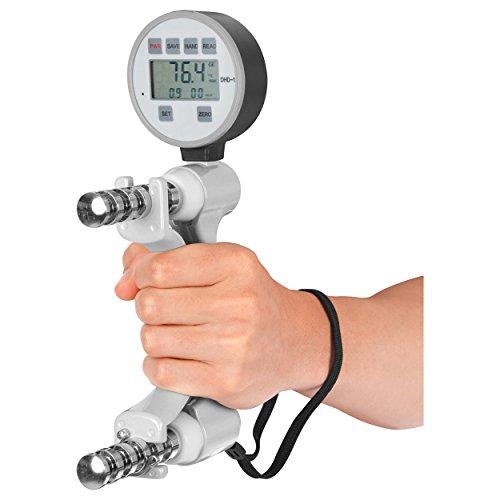 Terrarum 130 kg Handdruckmessger/ät Dynamometer Griffkraft St/ärke Messger/ät Druckkraft Kraftmessger/ät