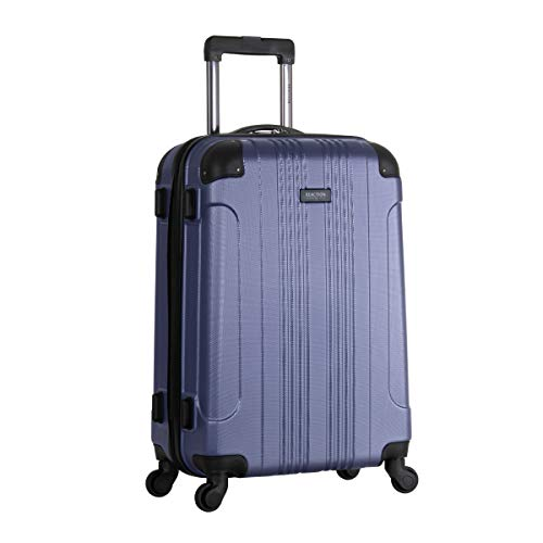 Kenneth Cole Reaction Out of Bounds 24-inch Check-Size Lightweight Durable Hardshell 4-Wheel Spinner Upright Luggage, Smokey Purple