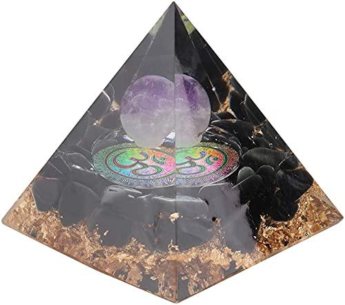 Pirâmide de Cristal para a Cura Energia Chakra Pedra Modelo Decorativo Lucky Pyramid Estatueta Desktop Decoração Feng Shui para Casa Offi