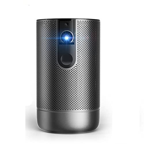 tyui Proyector, resolución portátil del proyector DLP 1080P, batería incorporada Android, Adecuada para Cine en casa y películas al Aire Libre