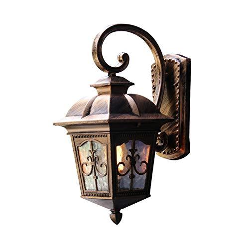 Outdoor-wandlamp, retro, balkon, deurhoofd, tuin, binnenplaats, decoratie, hotel, hal, café, verlichting thuis, E27, 1 kandelaar S Brons