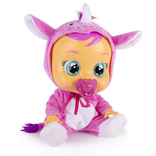 Bebés Llorones Sasha - Muñeca interactiva que llora de verdad con chupete y...
