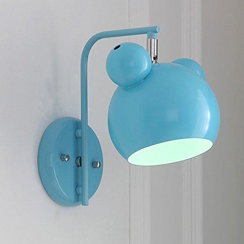 Schöne Cartoon Créatif Mode Wall Light Prinzessin étude chambre de bébé Chambre Lit Décoration de lire et à écrire Lampe murale en métal, parois Ampoules E27 * 1 Enfant bleu