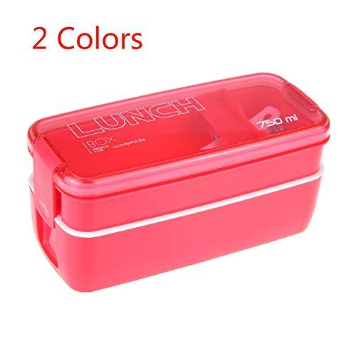 750 ml Plastique Lunch Box pour enfants de grande qualité récipient à nourriture barbecue four à micro-ondes Bento Boîtes Accessoires de Cuisine Taille unique Green