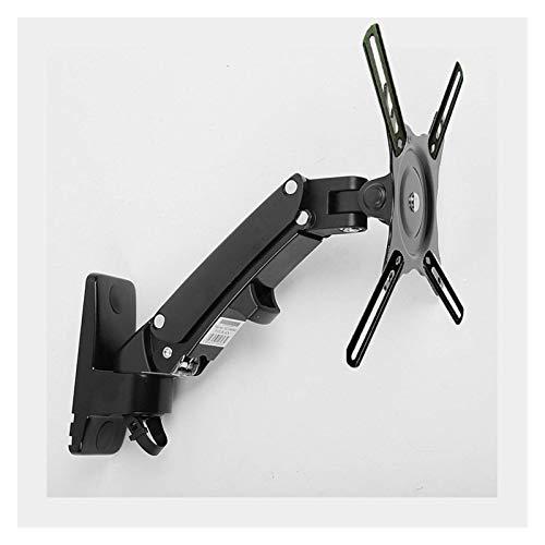 WERYU Supporto TV Molla A Gas Staffa per Montaggio A Parete TV Staffa per Monitor LCD Ergonomica Staffa per Braccio in Alluminio Argento Rotazione di 360 Gradi (F120 Ae2 Nero)