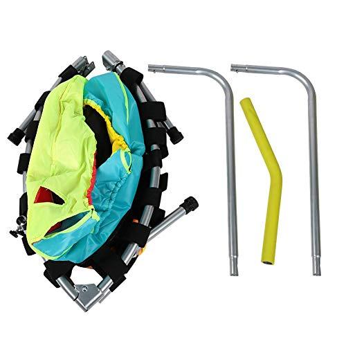 frenma Trampolín con pasamanos fácil de Montar, Resistente y Resistente, fácil de agarrar, trampolín para niños, para el hogar, habitación pequeña, Gimnasio