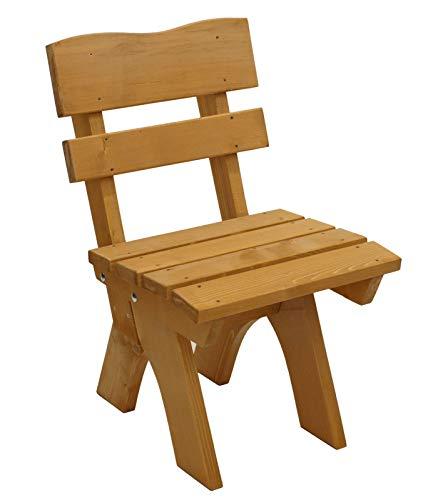 GXK Gartenstuhl Holzstuhl Stuhl Massivholz braun imprägniert
