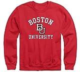 Ivysport Boston University BU Terriers Adult Unisex Crewneck Sweatshirt, Heritage, Red, Medium