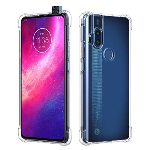 DDJTECH for Motorola One Hyper Smartphone Case, Motorola One Hyper TPU Case, Soft Flexible TPU Thin [Slim Fit] Clear Lightweight Bumper Shockproof Anti-Scratch Protective Cover