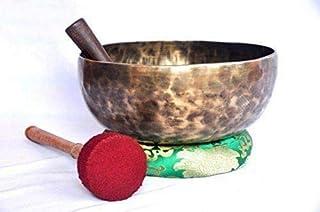 Root and Om Chakra C توجه داشته باشید که عتیقه سازی دست تتیک مخصوص دست تبت را با قطره 10 اینچ - کاسه بزرگ قدیمی توسط Thamelmart