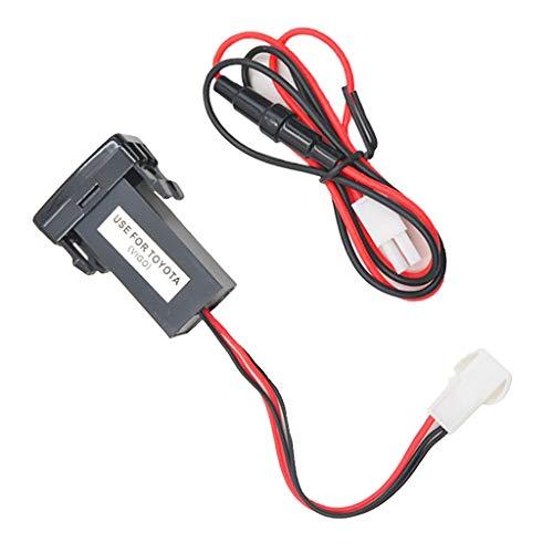 freneci Cargador Mp3 Del Zócalo de 12V 5V 2 USB + Zócalo Del Puerto de Audio para VIGO