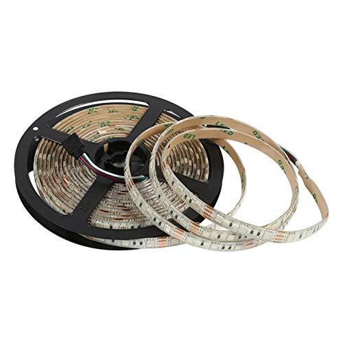 Jiawu Tira de luz de TV, Tira de LED RGB USB, Retroiluminación de LED de TV, Tira de LED de 5M 5V Luz de LED RGB para iluminación de Fondo de TV Tira de Luces de(Waterproof)