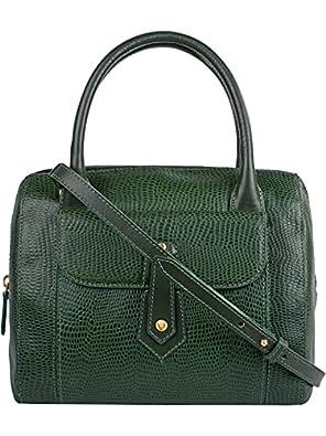 Hidesign Women's Shoulder Bag(LIZARD EMERALD)