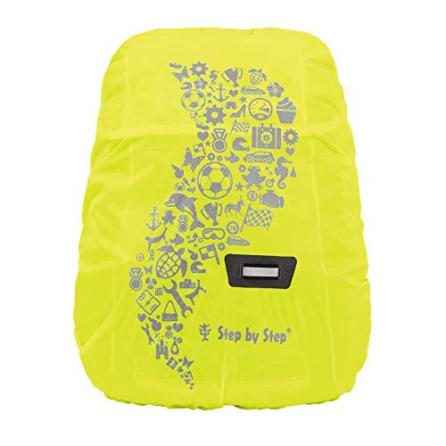 Step by Step Regen- und Sicherheitshülle, gelb, reflektierend und wasserdicht, geeignet für Step by Step Kid Rucksack, schützt vor Regen und Schmutz