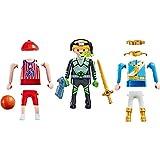 Playmobil 9828 Figuras Niño 3 en 1 - Príncipe, Jugador de Basket ó Explorador Espacial