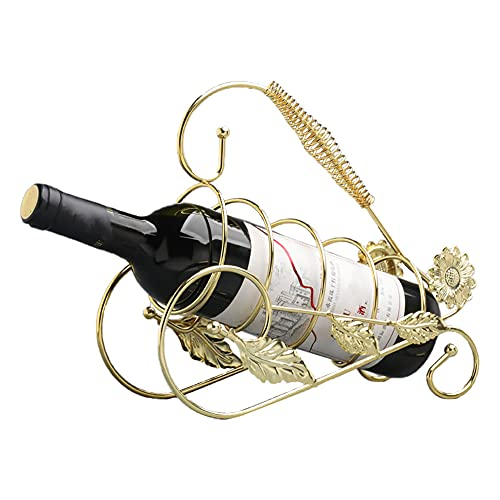 BOENTA Botelleros Originales Botellero Vino Pequeño Vino Botella Botella de Vino Rack Wineracks Estante de Vino Estrecho de pie Gold