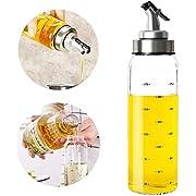 Olivenöl-Spender-Flasche - 300 ml Glas-Öl-Flasche ohne Tropfen, Ölbehälter für Gemüse Olivenöl, bleifreier Glas-Ölspender
