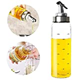 Botella dispensadora de aceite de oliva – 500 ml botella de aceite de vidrio cruets sin goteo, recipiente de aceite para aceite de oliva vegetal, dispensador de aceite de vidrio sin plomo 300 ml