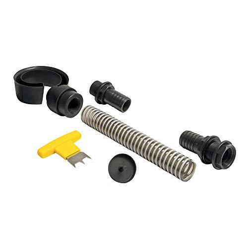 Regensammler EasyFix Comfort in der Farbe anthrazit für Fallrohre Ø 80 - 100 mm zum Befüllen von Regentonnen, Regenfässer und Regenwassertonnen. Einfache Montage ohne Trennen des Fallrohrs. Nicht geeignet für PVC Fallrohre.