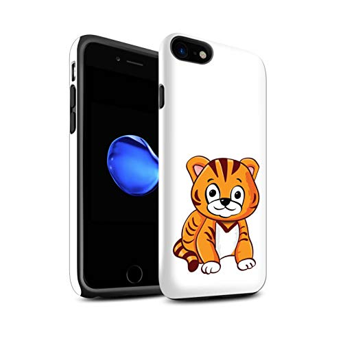 Stuff4 Telefoonhoesje/Cover/Skin/IP-3DTBM / Cartoon Zoo Animals Collectie Apple iPhone SE 2020 Tijger Cub