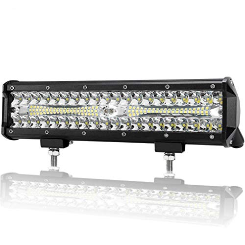 12 inch LED Light Bar, 12 volt Led Trailer lights waterproof 240W Spot Flood Combo Beam Triple Row Off Road Driving LED Work Lights For UTV ATV Jeep boat,One Pack