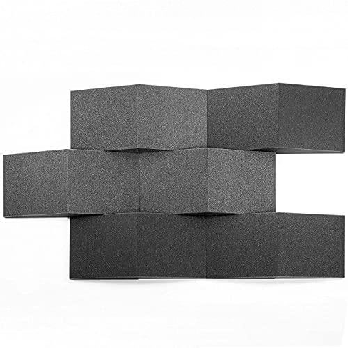 AcousPanel Espuma Acústica 12 Cuñas de 30x30x8cm Color Gris Antracita.