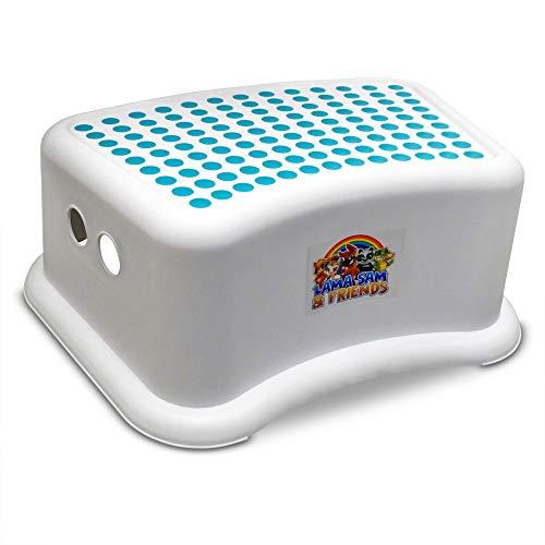 Lama Sam & Friends - Taburete de un solo paso para niños a partir de aproximadamente 18 meses con función antideslizante (Agua)