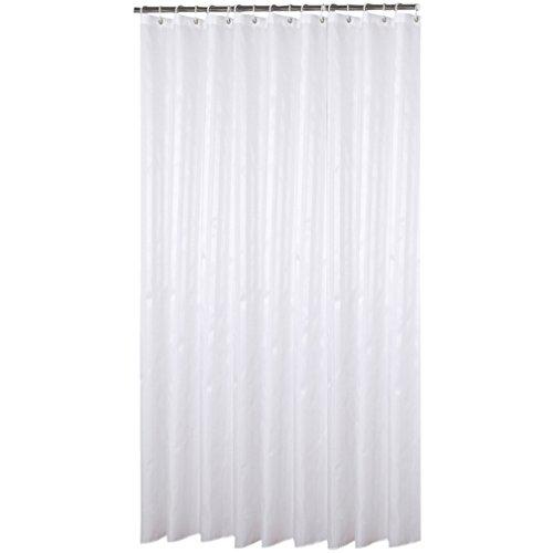 Eanshome Weiß Silber 3D Dekorative Anti-Schimmel Textilien Polyester Wasserabweisend Duschvorhang 180x220