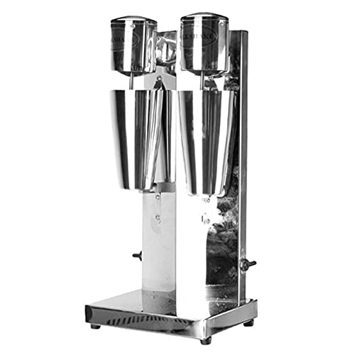 Máquina de batido Batidora eléctrica de batido de Leche con Acero Inoxidable Mezclador de Bebidas comerciales de 2 velocidades Frappe Shaker Griego Hielo Café Espuma Licuadora Licuadora Cóctel 220V,