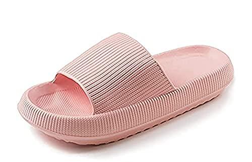 woejgo Zapatillas de baño unisex para hombre y mujer, antideslizantes, para interior, de secado rápido, color rosa, 40-41 EU