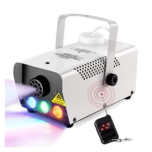 QPLKL Máquina de Niebla Máquina de Niebla de Halloween 500W Mini Etapa Máquina de Humo con 3 Luces Cáscara Blanca de Plata for el Efecto de la Boda y el Escenario Maquina de Humo (Size : 500W)