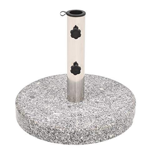 Festnight- Rund Sonnenschirmständer Schirmständer für Sonnenschirmstangen von 38 mm 48 mm Granit 22 kg 40 x 36,5 cm