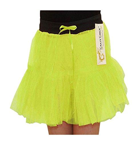 Islander Fashions Filles Fantaisie 2 Layer Tutu Jupe Enfants Ballet Danse Porter D�guisement Jupe Jaune 5-10 Ans