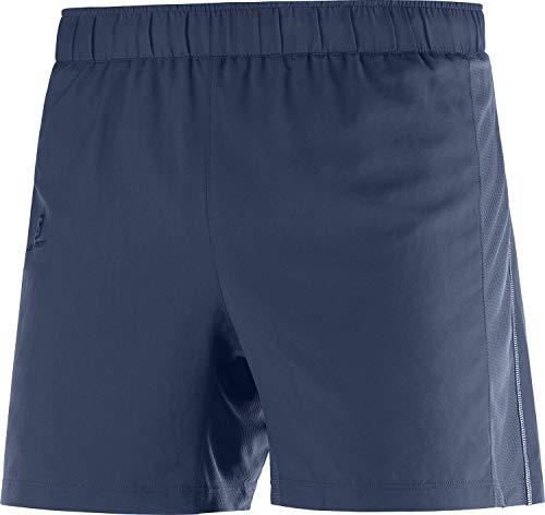 SALOMON Agile 5'' Short M Shorts para Running, Azul (Mood Indigo), Talla XL para Hombre