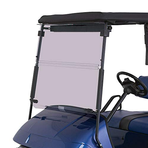 Tinted Windshield Compatible with 1994-2014 EZGO TXT & Medalist | Folding Down Tinted Windshield for EZGO TXT & Medalist Models Gas or Electric Golf Cart (1994-2014)