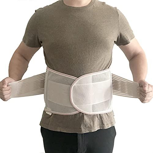 Cinturón de soporte trasero, soporte lumbar de la cintura transpirable Apoyo inferior a la espalda para la ciática, el disco herniado, la escoliosis Alivio de dolor de espalda baja, con correas duales