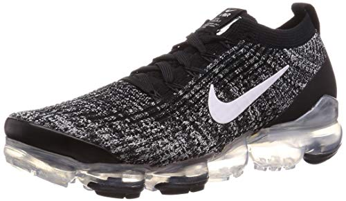 Nike Air Vapormax Flyknit 3, Zapatillas de Atletismo Hombre, Multicolor (Black/White/Metallic Silver 2), 42 EU