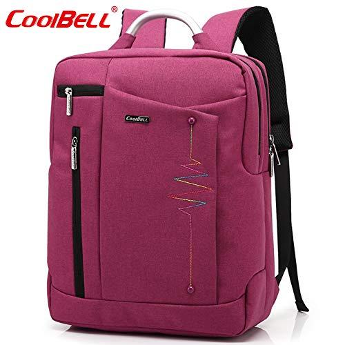 Nieuwe business-laptoptas laptoptas vrijetijdsrugzak vrouwelijk, fuchsia (roze) - 5315345515283