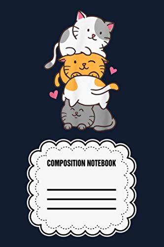 Cat Cats Meowtain Cute Kitty Pile Anime Kawaii Neko Gift TRCVX Notebook: 120 Wide Lined Pages - 6' x 9' - College Ruled Journal Book, Planner, Diary for Women, Men, Teens, and Children