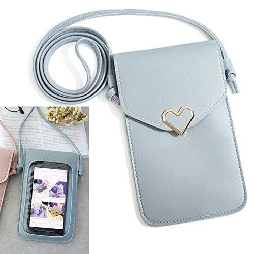 NOBRAND Dames Lederen Crossbody Reizen Portemonnee/Cellphones Met Verwijderbare Verstelbare Band Snap Sluiting, Voor Smartphones Tot 6.0