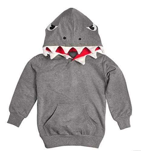 Popy Cool Sudadera Shark (tiburón) Color Gris - Talla 4 Años
